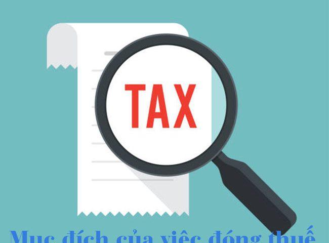 Mục đích của việc đóng thuế